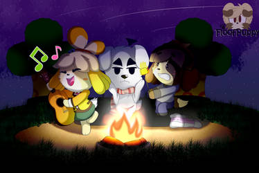 Let's sing The Campfire Song song! by FloofPuppy