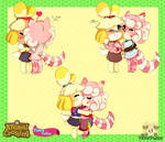 Animal Crossing- Peace Valley- Issy and Mally by FloofPuppy