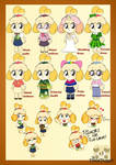 Animal Crossing Isabelle style redesign