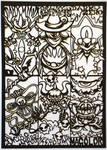 Papercutting-Kirby Bosses 2