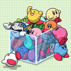 Kirbys in the Box by Sirometa