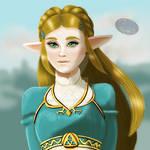 Princess Zelda by rojodayz