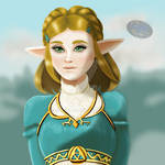 Princess Zelda Short Hair by rojodayz