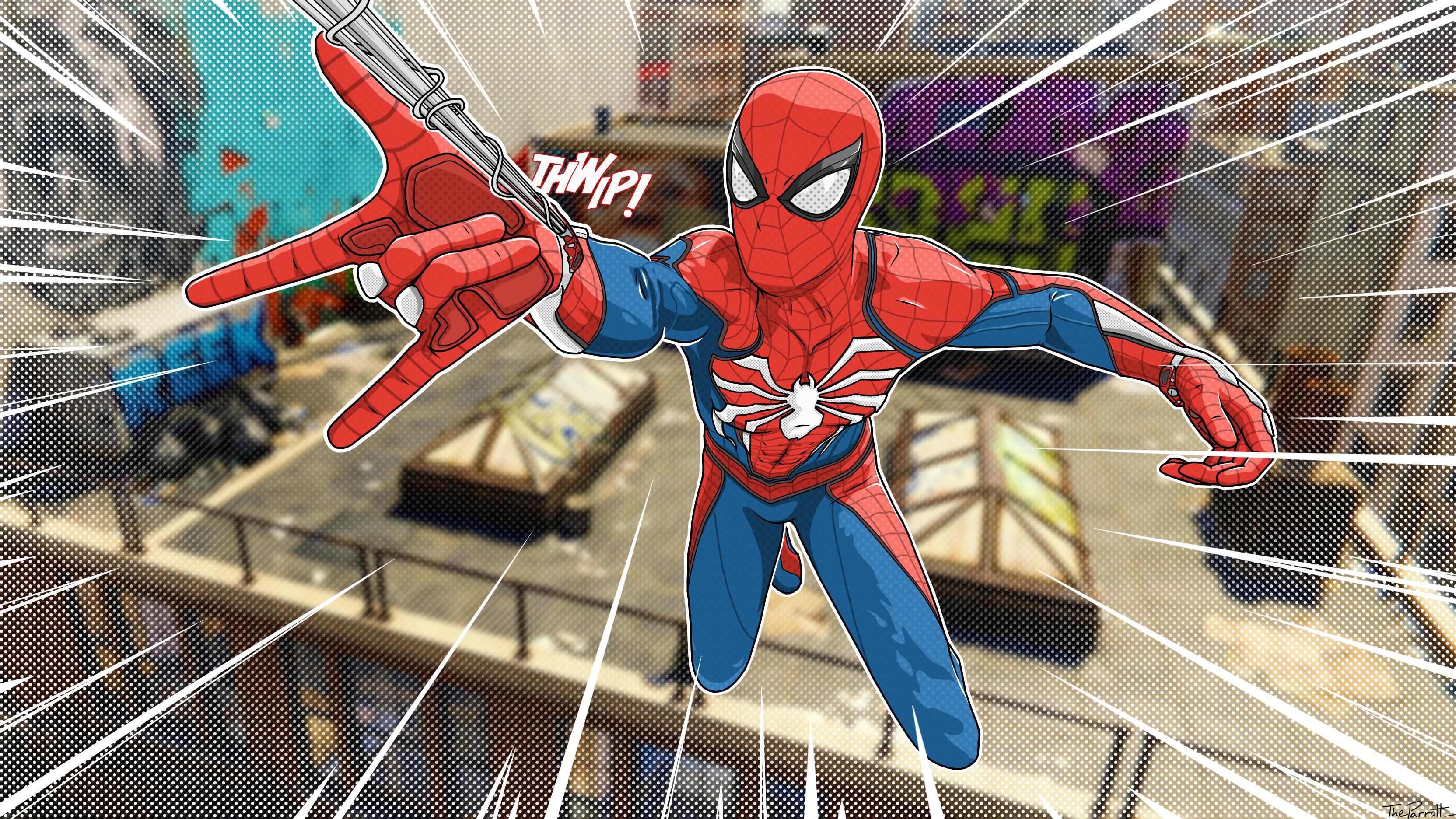 Spider Man Ps4 Comic Wallpaper By Darthplanet97 On Deviantart