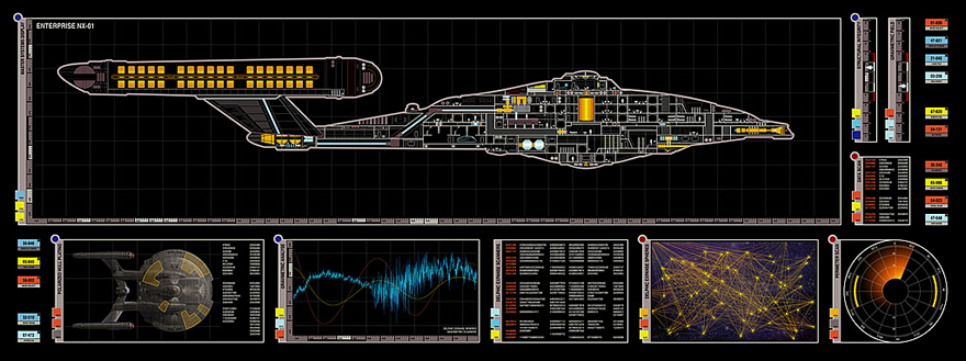 Lcars Star Trek Enterprise Nx By Lemandarin On Deviantart Rh Deviantart Com  Enterprise NX 01 Bridge Enterprise NX 01 Blueprints