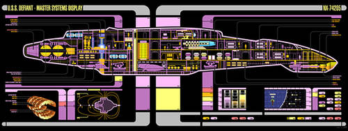 LCARS Star Trek Defiant by lemandarin