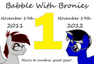 Babble With Bronies - One Year Anniversary