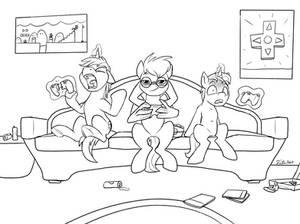 Game Night - Tsitra360 Sketch Commission