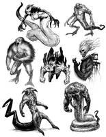 The Mist: Tentacle Monster by InkHyaena on DeviantArt