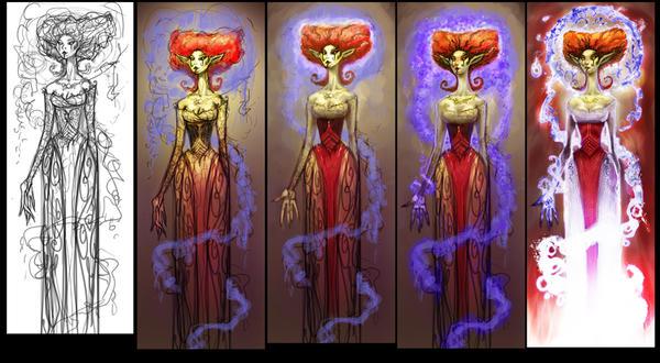 Queen Titania, process by ARTofANT