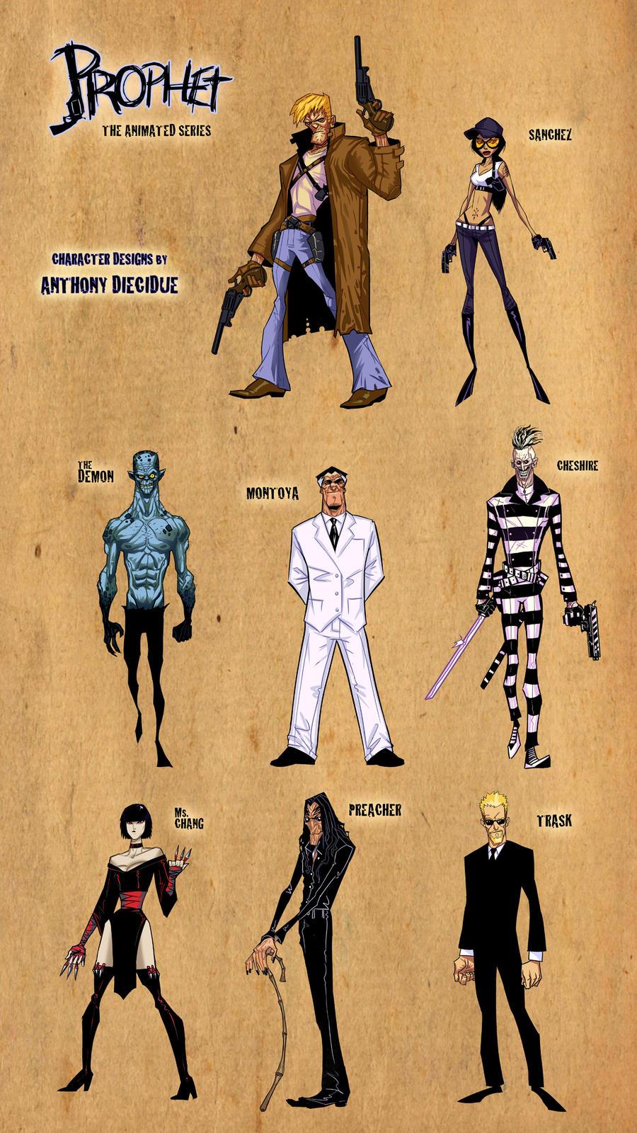 Prophet- character designs by ARTofANT