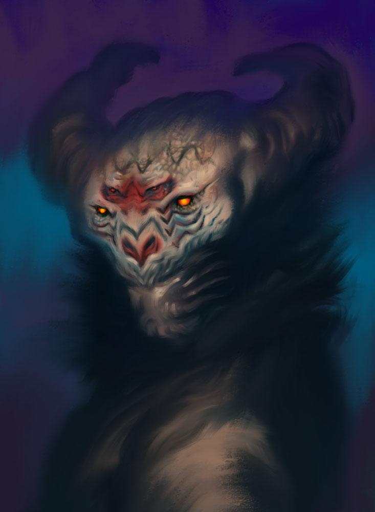 Fuzzy Four Eyed Demon by ARTofANT