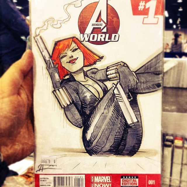Black Widow Commish by ARTofANT