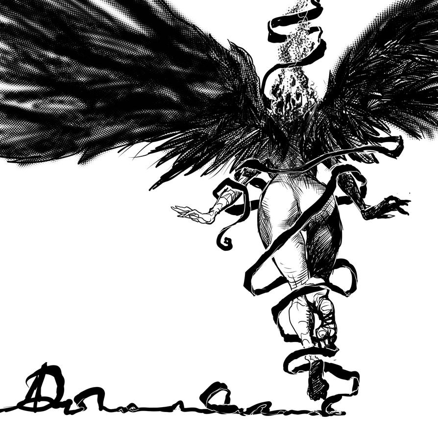 Falling angel by ARTofANT