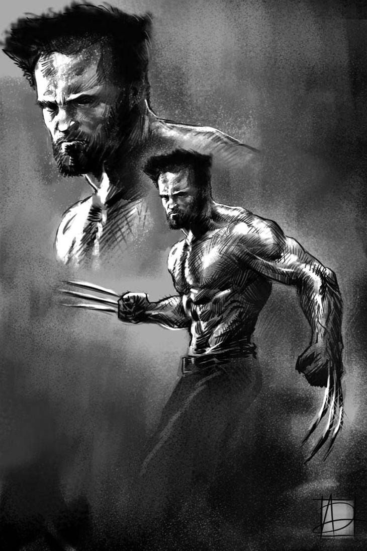 Wolverine Hugh Jackman by ARTofANT