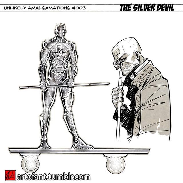 Unlikely Amalgamations #003- Silver Devil by ARTofANT