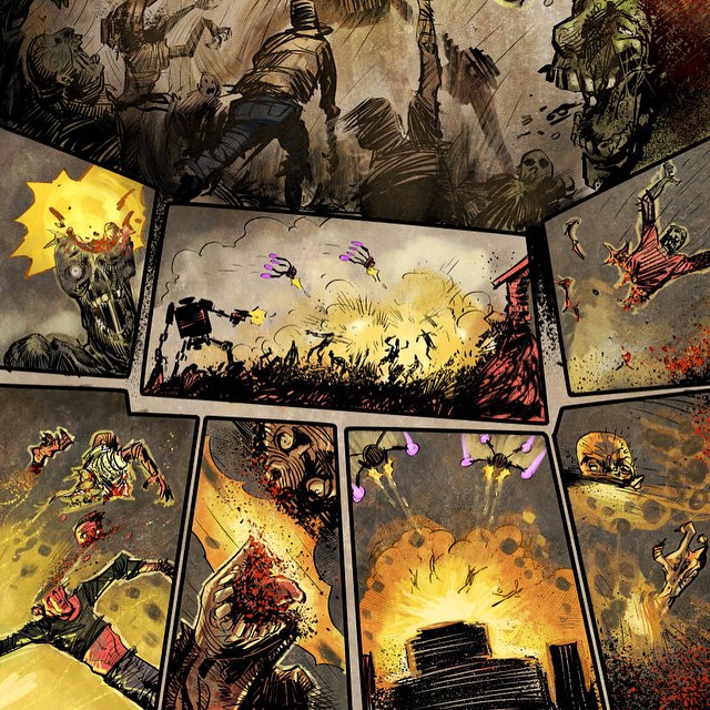 More zombie carnage in Zombie vs. Robots #2 by ARTofANT