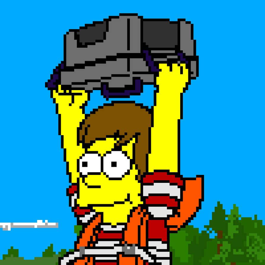 Homer Simpson Pixel Art By Ze Spadester On Deviantart