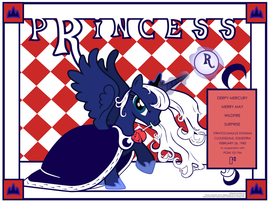 Princess Concert Poster Cloudsdale 1983 by JedTheKrampus