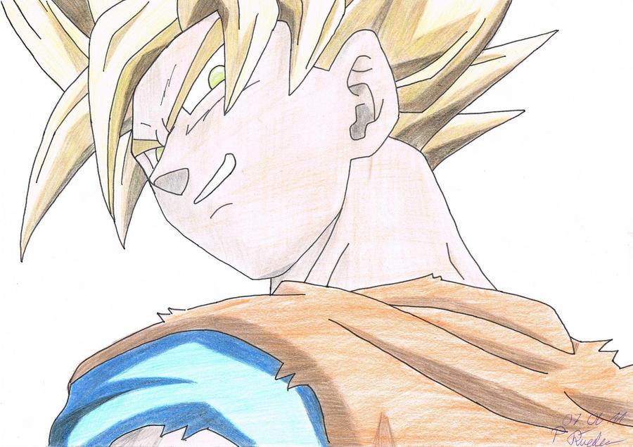 Goku Kai coloured by Vegetto90