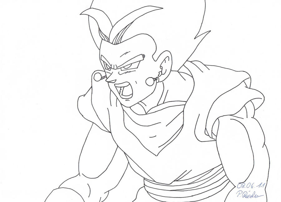 Dbz Vegito Coloring Pages Sketch Coloring Page