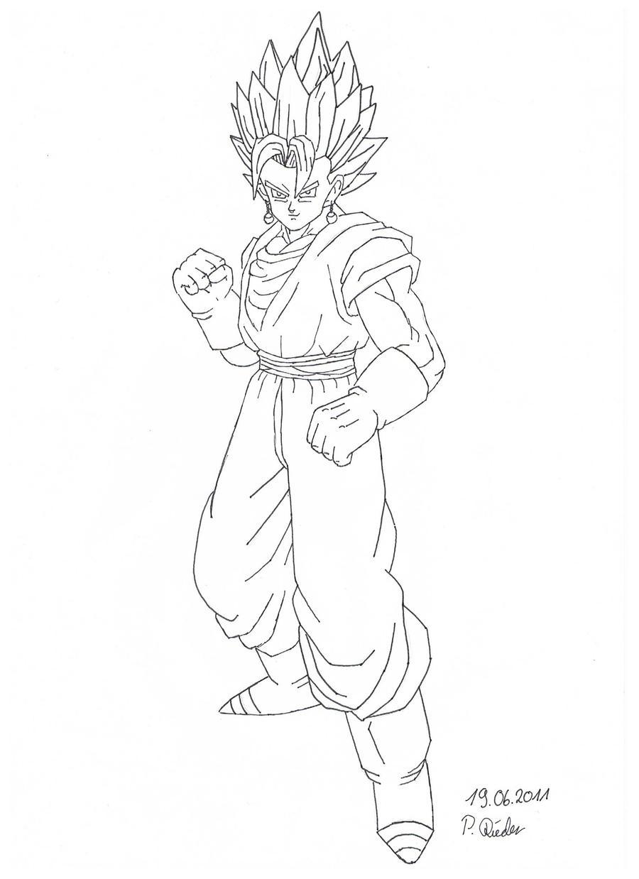 Dibujos Para Colorear De Dragon Ball Z Vegito Dibujo De Gohan De
