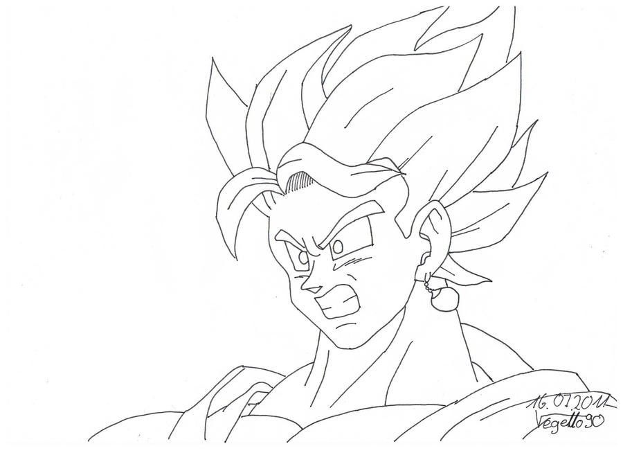 Vegito Yieks Lineart By Vegetto90 On DeviantArt