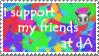 Friends Stamp by lightskin