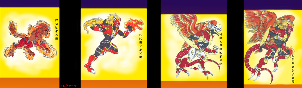 Digimon Fire: Rookie-Mega by Akumaru13