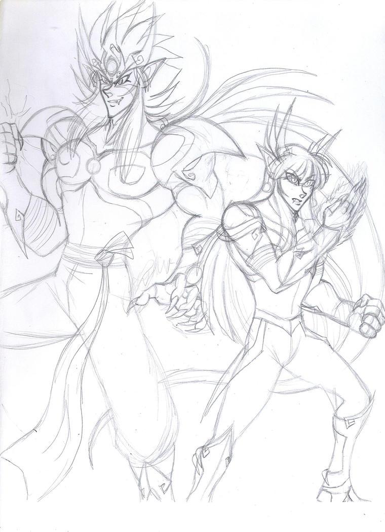 KDZ- Duality -wip sketch- by Akumaru13