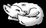 curled wolf (Freebie) by PlasmaPaww