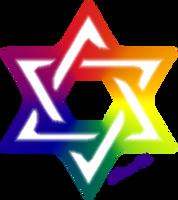 Shield of David - Pride Colors by shimon83
