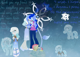 Snowdrop and Luna Wallpaper by PrincessLunalovesme