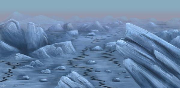 Blue Landscape by chadracine
