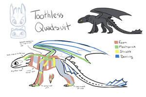 Toothless quadsuit idea