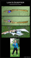 Loki's Scepter - cosplay prop by nooby-banana