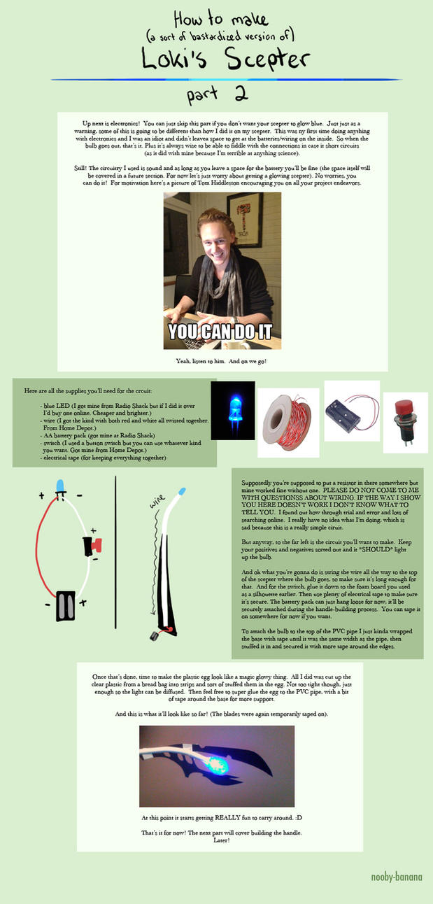 Tutorial: Loki's Scepter part 2 by nooby-banana