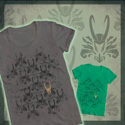 Shirt Design: Horns with Class by nooby-banana