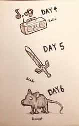 Inktober - Days 4-6