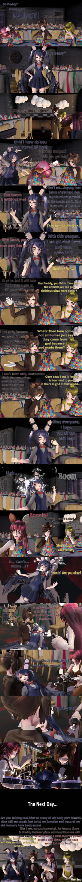MMD Five Nights At Meiko's - Try To Suicide Comic by Torchic73