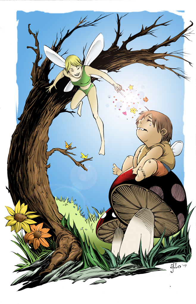 Fairy Boy Colored by Alan-Gallo