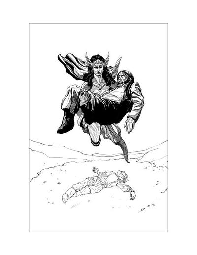 Saxon Illustration 8 by Alan-Gallo