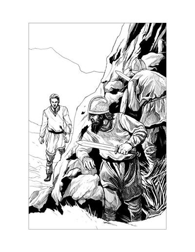 Saxon Illustration 9 by Alan-Gallo
