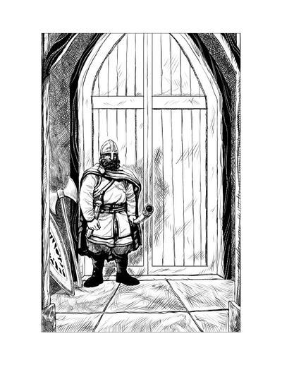 Saxon Illustration 12 by Alan-Gallo