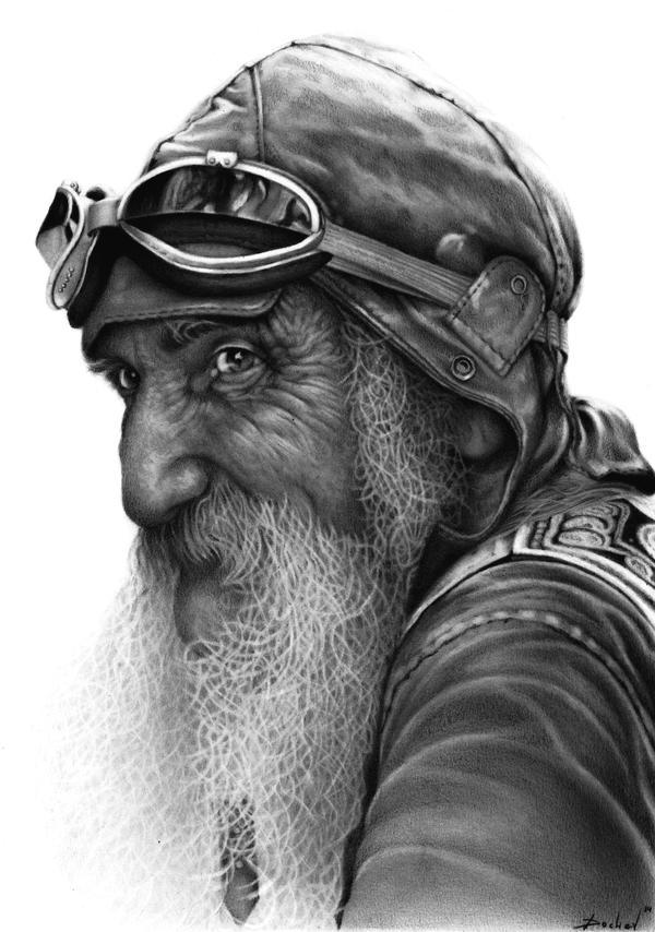 The Old Biker by DochevART