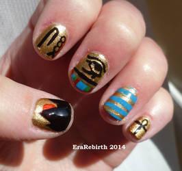 Egyptian Gold Nail Art