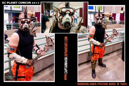 Borderlands Boss 9 Toes at KC Planet Comicon 2013