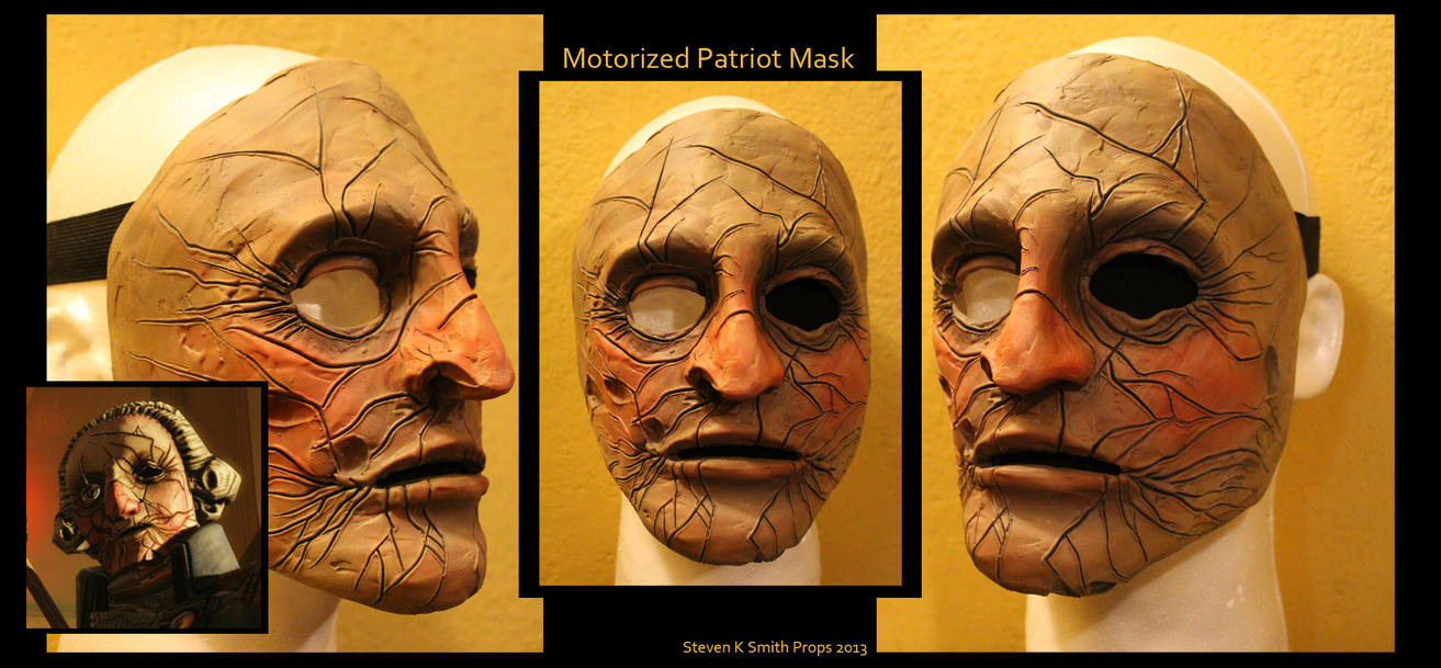 Bioshock Infinite Motorized Patriot Mask by SKSProps