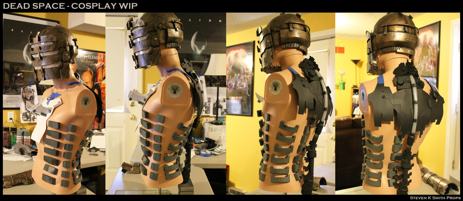 dead space isaac clarke cosplay wip by sksprops on