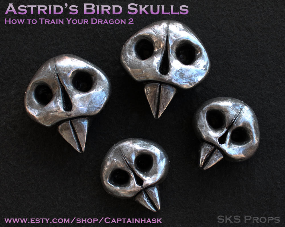 Astrid Bird Skulls for Cosplay Costume HTTYD by SKSProps